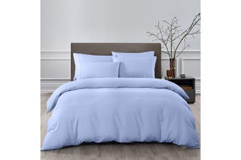 Royal Comfort 2000TC 6 Piece Bamboo Sheet & Quilt Cover Set Cooling Breathable - Double - Light Blue