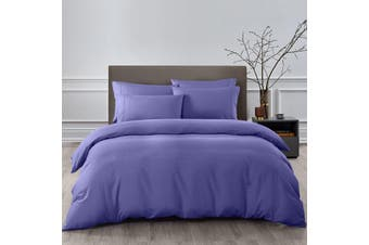 Royal Comfort 2000TC 6 Piece Bamboo Sheet & Quilt Cover Set Cooling Breathable - Queen - Lilac Grey