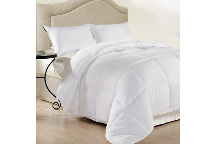 Royal Comfort 500GSM Plush Duck Feather Down Quilt Ultra Warm Soft - All Seasons - Single - White