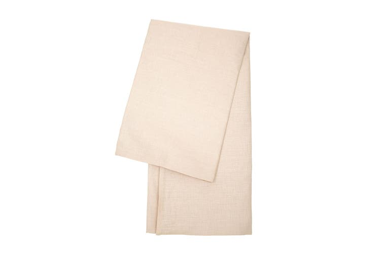 French Luxe 100% Linen Modern Rectangular Dining  Tablecloth 140x220cm - Neutral