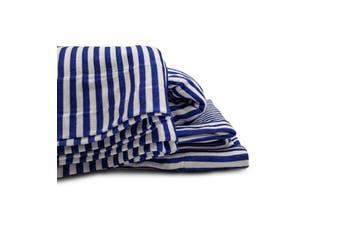 Park Avenue 175GSM Egyptian Cotton Flannelette Queen Sheet Set - Indigo