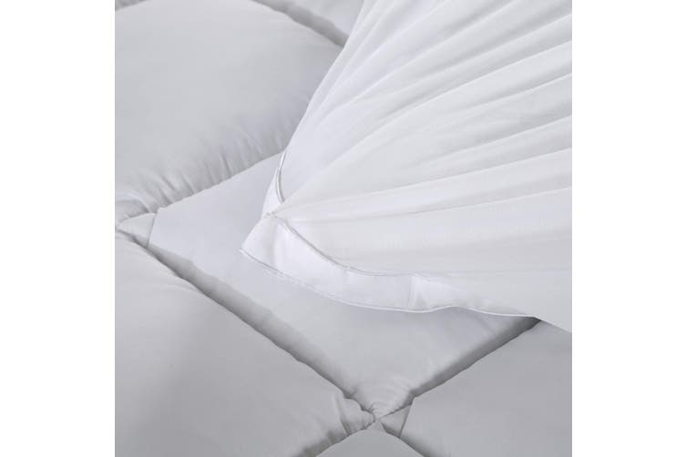 Royal Comfort 1000GSM Memory Mattress Topper Cover Protector Underlay - Queen - White