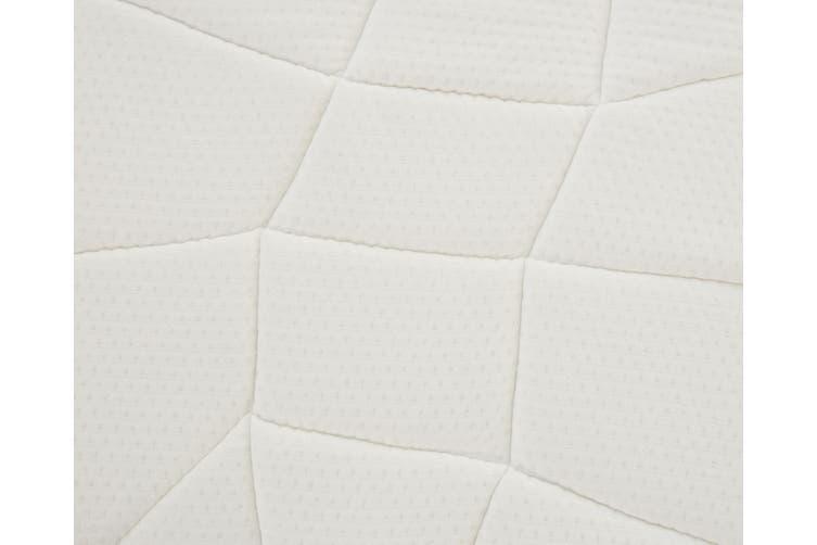 Sleepy Panda Mattress 5 Zone Pocket Spring EuroTop Medium Firm 30cm Thickness - King Single - White, Grey, Blue
