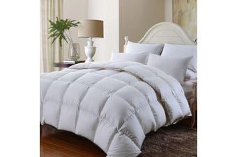 Royal Comfort 350GSM Luxury Soft Bamboo All-Seasons Quilt Duvet Doona All Sizes - Super King - White