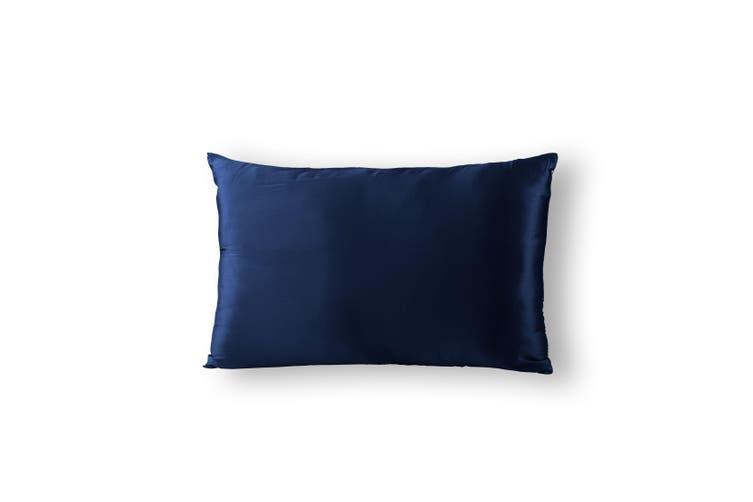 Royal Comfort Pure Silk Pillow Case 100% Mulberry Silk Hypoallergenic Pillowcase - Navy