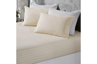 Royal Comfort 1200 Thread Count Damask Cotton Blend 3 Piece Combo Sheet Set - Double - Pebble
