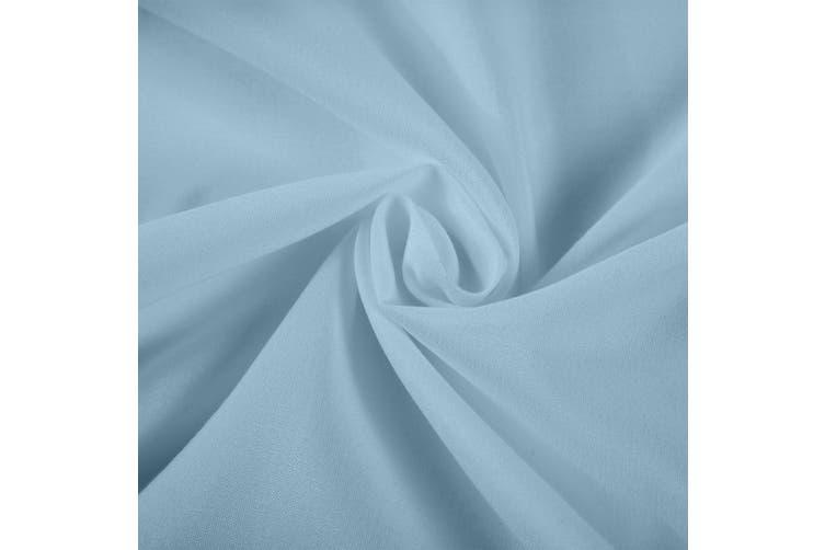Royal Comfort 1200 Thread Count Sheet Set 4 Piece Ultra Soft Satin Weave Finish - Queen - Sky Blue