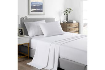 Royal Comfort 2000 Thread Count Bamboo Cooling Sheet Set Ultra Soft Bedding - Double - White