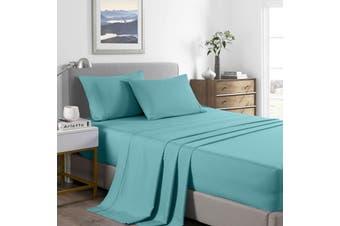 Royal Comfort 2000 Thread Count Bamboo Cooling Sheet Set Ultra Soft Bedding - Double - Aqua