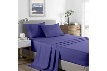 Royal Comfort 2000 Thread Count Bamboo Cooling Sheet Set Ultra Soft Bedding - Double - Royal Blue