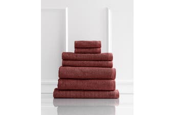 Style & Co Resort 7 Piece Towel Pack 600GSM Egyptian Cotton Hotel Grade - Marsala