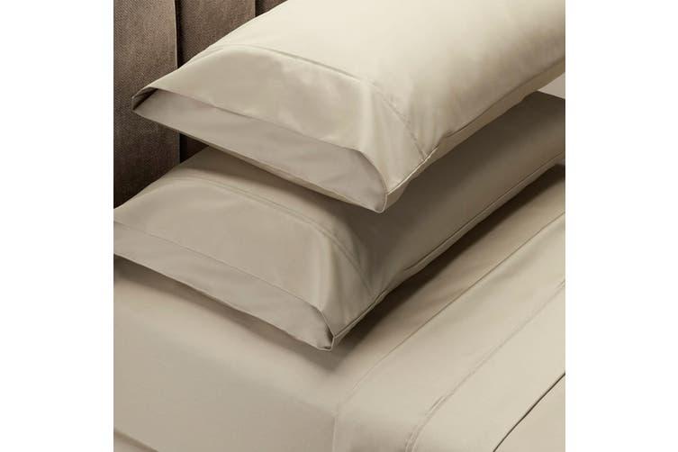 Royal Comfort 1000 Thread Count Sheet Set Cotton Blend Ultra Soft Touch Bedding - Queen - Pebble