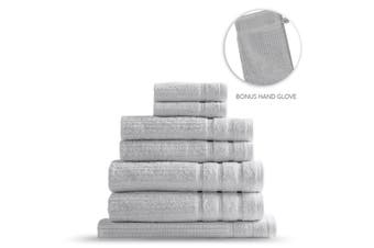 Royal Comfort Eden Egyptian Cotton 600GSM 8 Piece Luxury Bath Towels Set - Holly