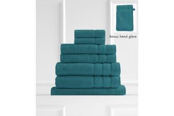 Royal Comfort Eden Egyptian Cotton 600GSM 8 Piece Luxury Bath Towels Set - Turquoise