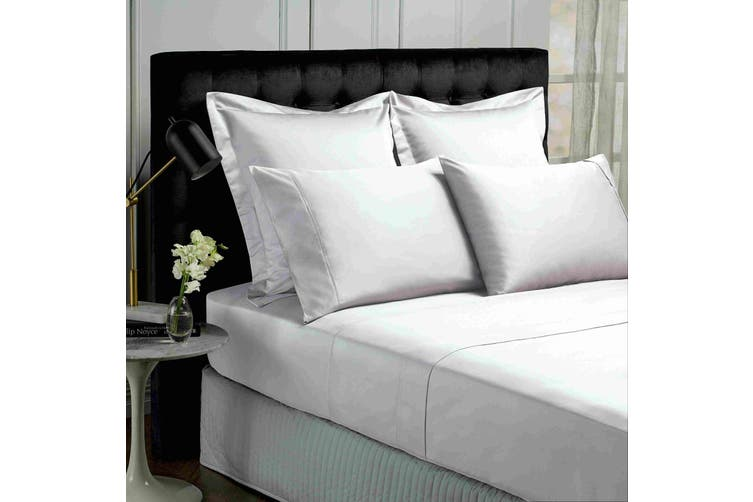 Park Avenue 500TC Soft Natural Bamboo Cotton Sheet Set Breathable Bedding - Queen - White