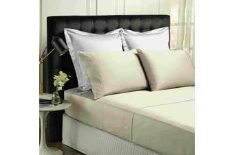 Park Avenue 500TC Soft Natural Bamboo Cotton Sheet Set Breathable Bedding - Queen - Dove