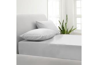 Park Avenue 1000TC Cotton Blend Sheet & Pillowcases Set Hotel Quality Bedding - Single - White