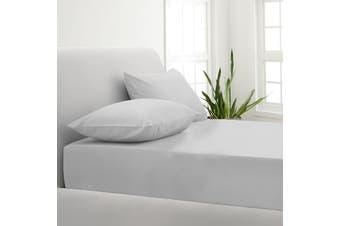 Park Avenue 1000TC Cotton Blend Sheet & Pillowcases Set Hotel Quality Bedding - Single - Silver
