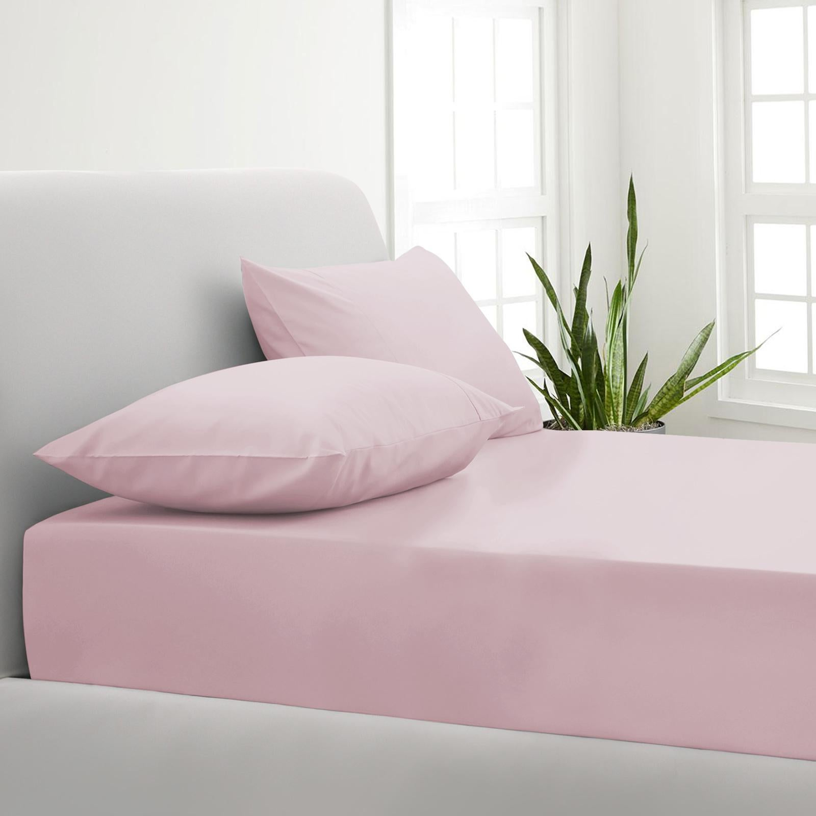 Park Avenue 1000tc Cotton Blend Sheet Pillowcases Set Hotel Quality Bedding Single Blush Matt Blatt