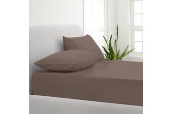 Park Avenue 1000TC Cotton Blend Sheet & Pillowcases Set Hotel Quality Bedding - Single - Pewter