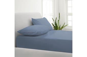 Park Avenue 1000TC Cotton Blend Sheet & Pillowcases Set Hotel Quality Bedding - Double - Blue Fog
