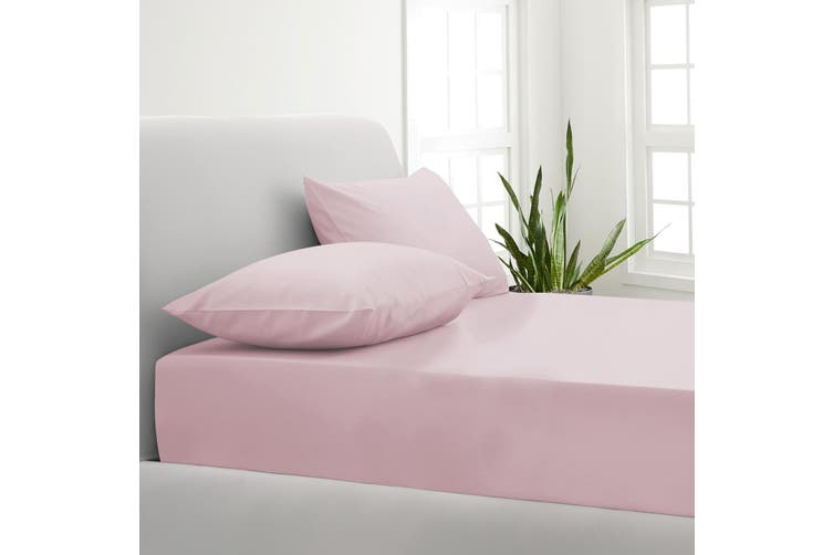 Park Avenue 1000TC Cotton Blend Sheet & Pillowcases Set Hotel Quality Bedding - Double - Blush