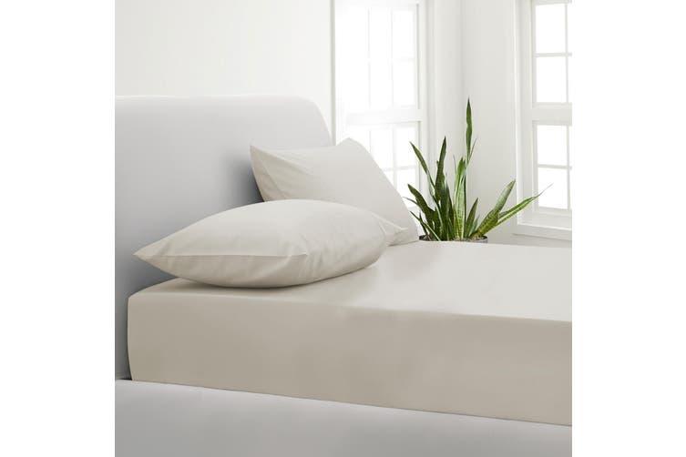 Park Avenue 1000TC Cotton Blend Sheet & Pillowcases Set Hotel Quality Bedding - Queen - Pebble
