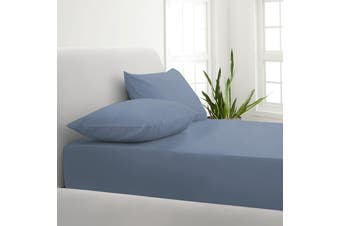 Park Avenue 1000TC Cotton Blend Sheet & Pillowcases Set Hotel Quality Bedding - Queen - Blue Fog