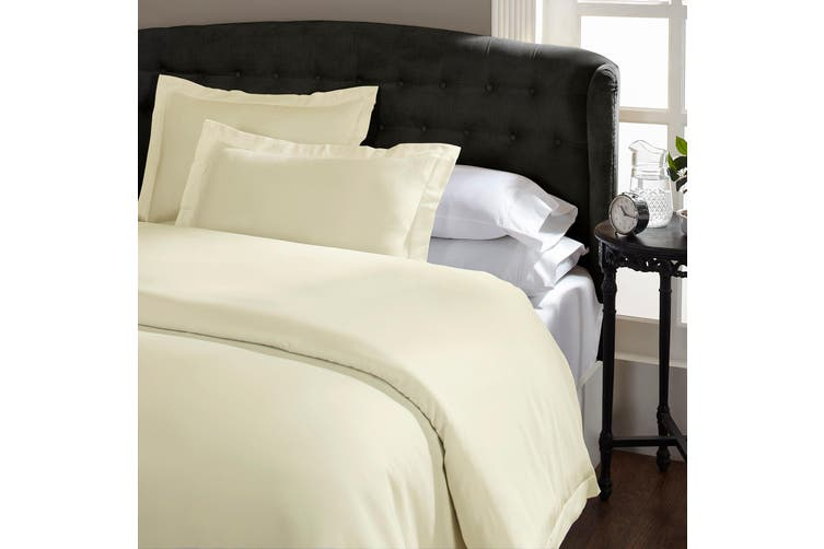 Royal Comfort Queen 1500TC Markle Collection Cotton Blend Quilt Cover Set - Ivory