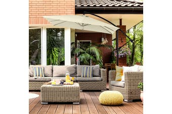 Milano 2.2M Outdoor Umbrella Cantilever Garden Deck Patio Shade Water-Resistant - Beige