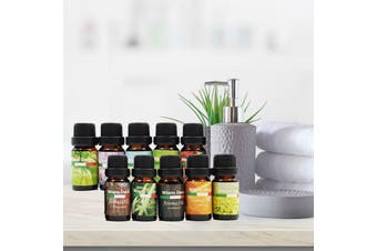 10 Pack Aroma Diffuser Oils Aromatherapy Fragrance 10ml Gift Pack