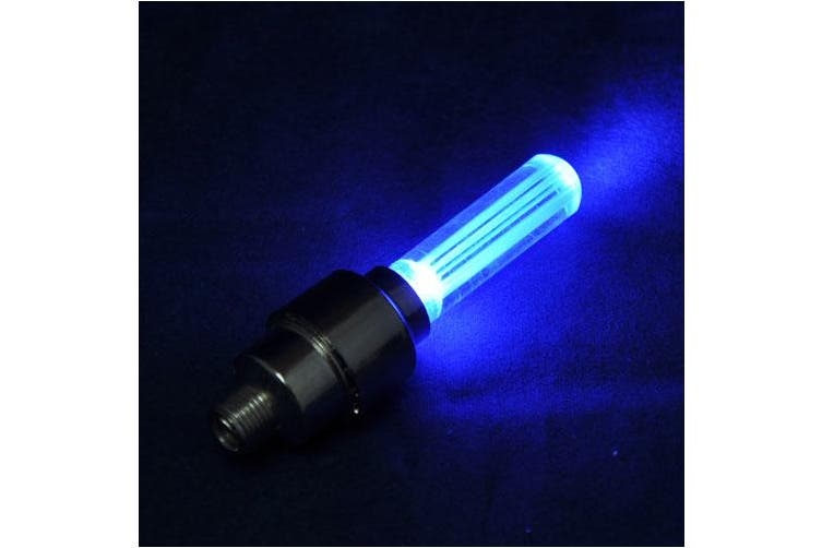 Set of 2 LED Bright Bicycle Bike Wheel Tyre Lights Bulb for Nighttime Visibility - Blue