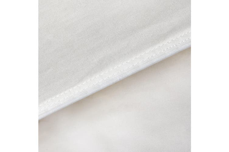 Goose Feather & Down Quilt 500GSM + Goose Feather and Down Pillows 2 Pack Combo - King - White