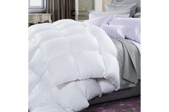 50% Duck Feather & 50% Duck Down Quilt 500GSM + Duck Pillows Twin Pack Combo - Single - White