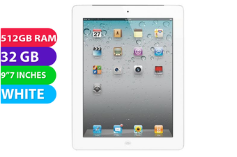 Apple iPad 2 Wifi (32GB, White) - Used as Demo