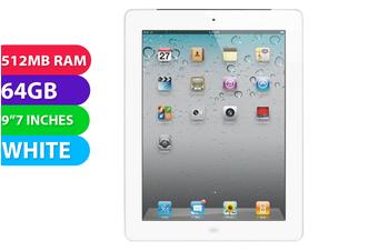 Apple iPad 2 Wifi + Cellular (64GB, White) - Used as Demo