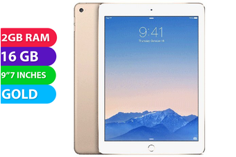 Apple iPad AIR 2 Wifi + Cellular (16GB, Gold) - Used as Demo
