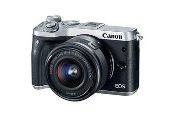 Canon M6 kit (15-45mm) Silver - FREE DELIVERY