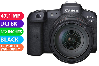 Canon EOS R5 Kit RF 24-105mm F/4L Camera With Adapter - FREE DELIVERY