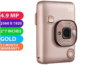 Fujifilm instax mini LiPlay Camera Blush Gold - FREE DELIVERY
