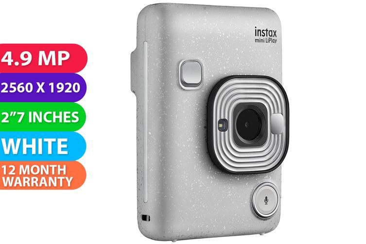 Fujifilm instax mini LiPlay Camera Stone White - FREE DELIVERY
