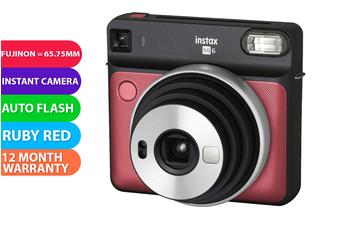 Fujifilm Instax SQUARE SQ6 Camera Ruby Red - FREE DELIVERY