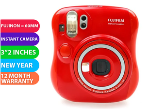Fujifilm Instax Mini 25 Instant Film Camera New Year Version - FREE DELIVERY