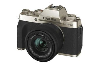 Fujifilm x-t200 Kit (15-45mm) Champagne Gold - FREE DELIVERY