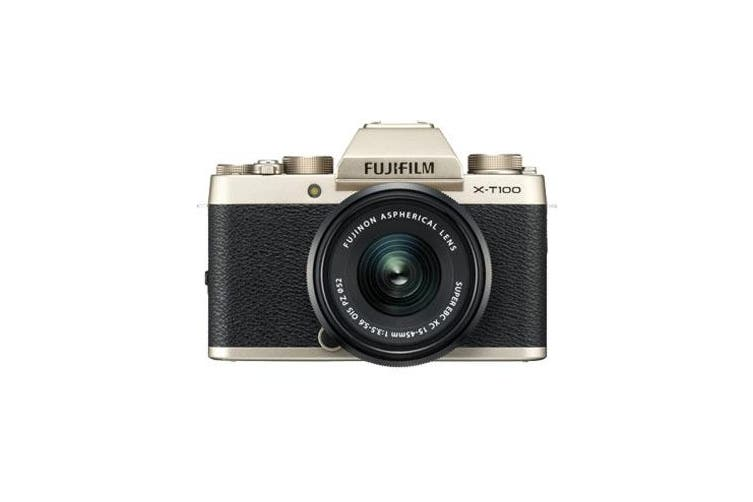 Fujifilm X-T100 (15-45mm) Kit Champagne Gold  - FREE DELIVERY