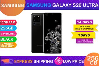 Samsung Galaxy S20 Ultra Dual SIM 5G (12GB RAM, 256GB, Cosmic Black) - FREE DELIVERY