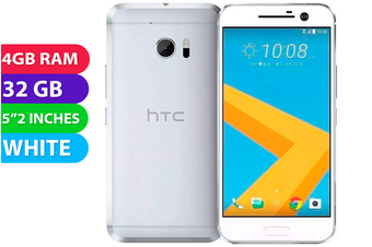 HTC 10 4G LTE (White, 32GB) - Used as Demo