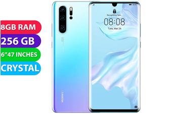 Huawei P30 Pro 4G LTE (256GB, Crystal) - Used as Demo