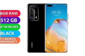Huawei P40 Pro+ Plus Dual SIM 5G (8GB RAM, 512GB, Black Ceramic) - FREE DELIVERY
