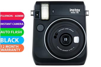 FujiFilm Instax Mini 70 Camera Black - FREE DELIVERY